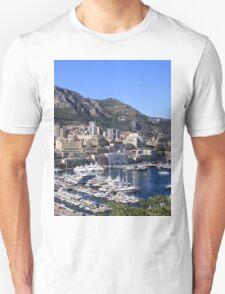a colourful Monaco landscape T-Shirt