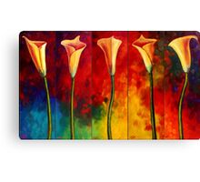 Calla Lilies Glow Canvas Print