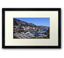 a colourful Monaco landscape Framed Print