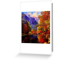 Yosemite River & Cliffs Greeting Card