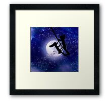 Swing By The Light Of The Moon Framed Print