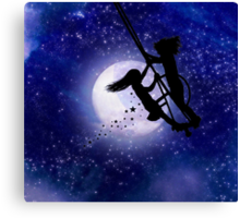 Swing By The Light Of The Moon Canvas Print