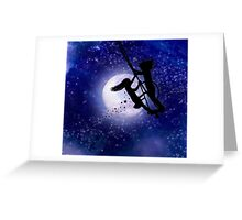 Swing By The Light Of The Moon Greeting Card