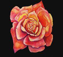 Orange Rose Bud  Womens Fitted T-Shirt