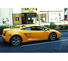 Exotic Yellow Sports Car on Rodeo Photographic Print