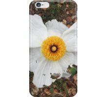 White flower iPhone Case/Skin