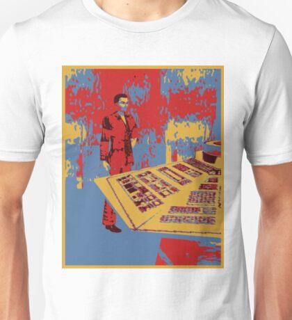 Christopher eccleston in tardis Unisex T-Shirt