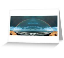 Rainbow over the ocean Greeting Card