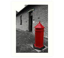 The Red Postbox - Albany, Western Australia. Art Print
