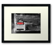 security zone Framed Print