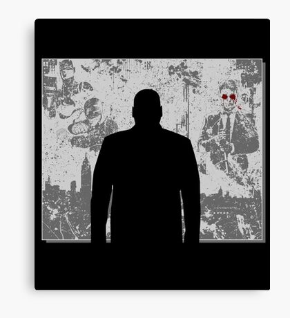 Devil in a snowstorm Canvas Print