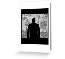 Devil in a snowstorm Greeting Card