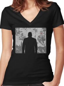 Devil in a snowstorm Women's Fitted V-Neck T-Shirt