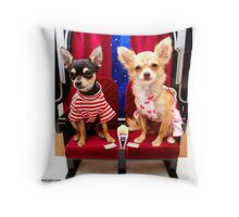 Dogs at the movies Throw Pillow