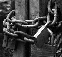 Locked Up - Spencer St Melbourne by Graeme Buckland