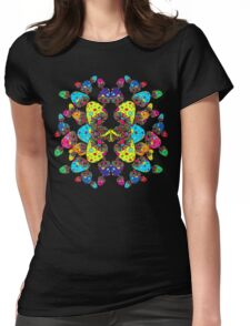 Mushroom Reflection Womens Fitted T-Shirt