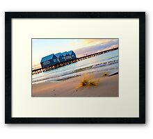 dune grass and the Busselton Jetty Framed Print