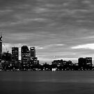 city skyline in black and white by Martin Pot