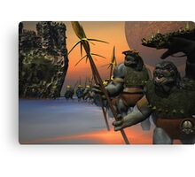 THE RETURN HOME FROM BATTLE Canvas Print