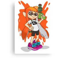 Inkling Girl (Splatoon) Canvas Print