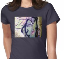 Yogini's Epiphany (From Chalk Meditation #13 - June 2007) Womens Fitted T-Shirt
