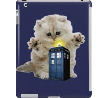 Kitty & The TARDIS iPad Case/Skin