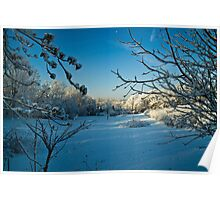 First Snowfall-Lancaster County, Pennsylvania Poster