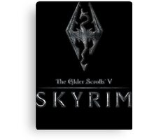 The Elder Scrolls V: Skyrim Logo Canvas Print