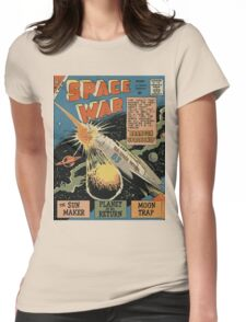 SPACE WAR Womens Fitted T-Shirt