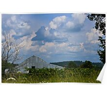 Land, and Sky, Barn In NW Arkansas Poster