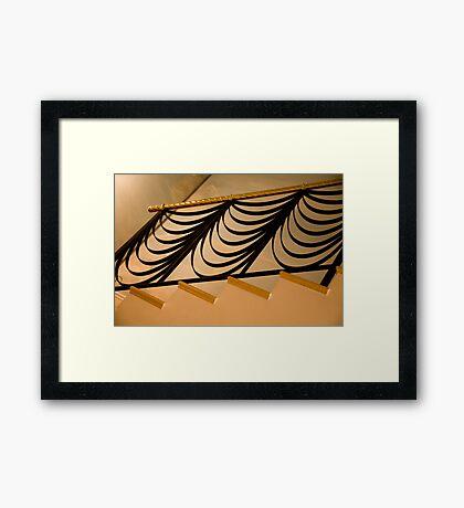 Ribbon Staircase Framed Print
