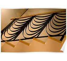 Ribbon Staircase Poster