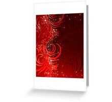 Christmas red background Greeting Card