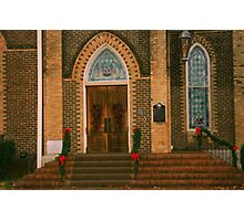 Decorated for Christmas in Crockett, Texas Photographic Print
