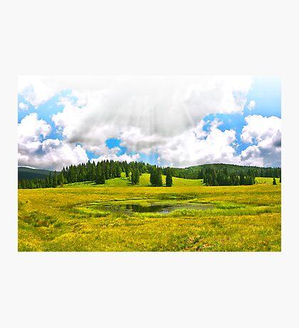 Alpine plateau in vivid colors. Photographic Print