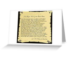 An American Magna Carta.... Greeting Card