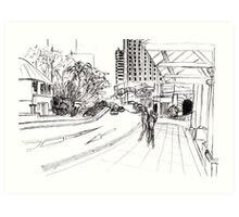 Singapore streetscape Art Print