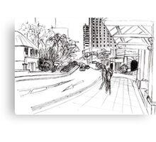 Singapore streetscape Canvas Print