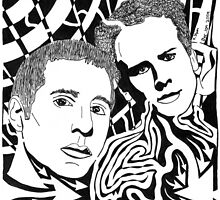Simon And Garfunkel Maze by Yonatan Frimer