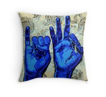 Sign09IF - Hands using American Sign Language for the word IF  Throw Pillow