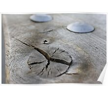 Knot in Wood Poster