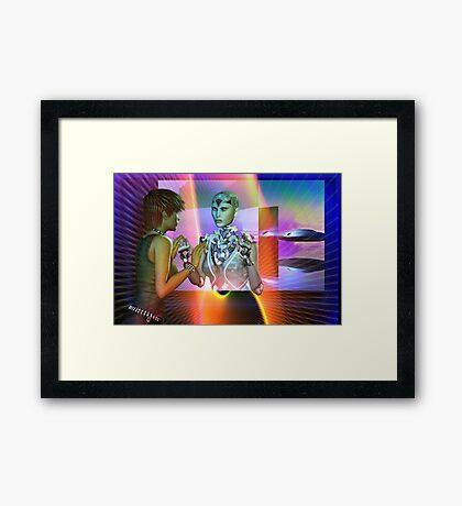 futuristic reality Framed Print