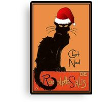 Le Chat Noel Canvas Print