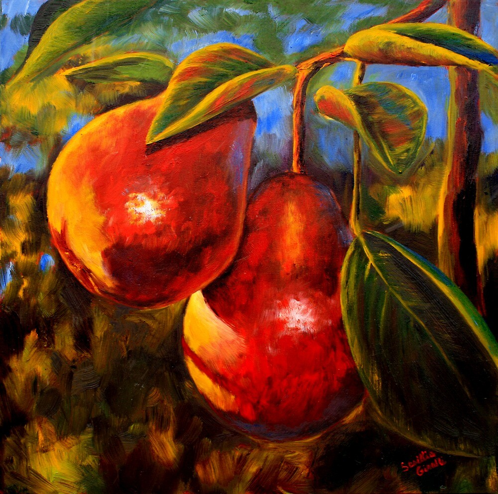 Red Pears by sesillie
