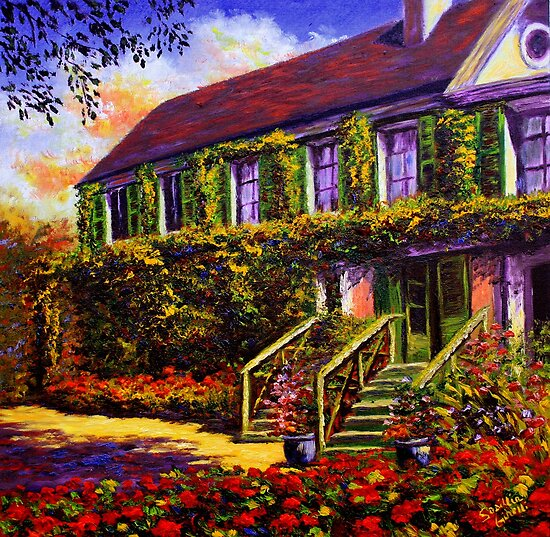 Vines on Claude Monet's House by sesillie