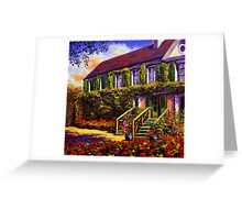 Vines on Claude Monet's House Greeting Card