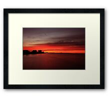 Fire over the Gulf Framed Print