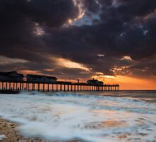 The Stormy Pier by Rick Bowden