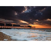 The Stormy Pier Photographic Print