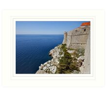 The outskirts of Dubrovnik 4 Art Print